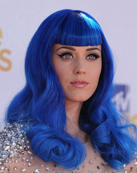Katy Perry's Royal Blue Tresses