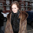 Adele's Plaid Fur-Collared Cape