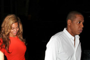 Beyonce and Jay-Z leave the Delano Hotel after attending a promotional party for Jay-Z's upcoming new book,