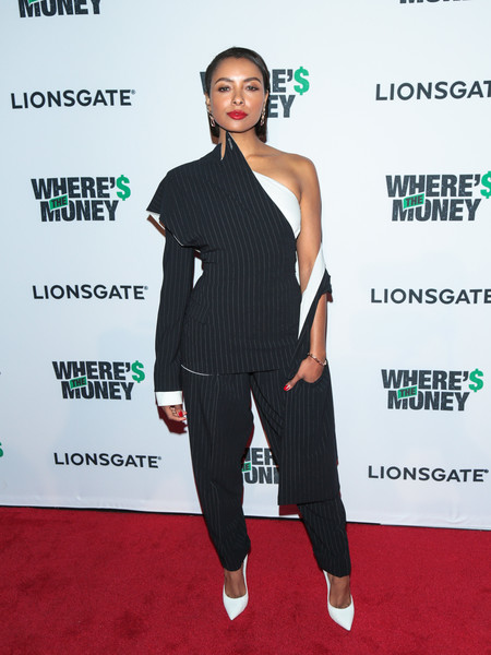 Kat Graham in Jean Paul Gaultier at a Los Angeles Premiere