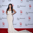 Stunning In A Cream August Getty Atelier Gown At The Diamond Ball