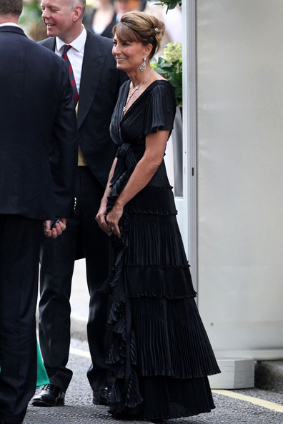 1c992ac6f2 Carole Middleton Is Absolutely Elegant in a Black Evening Gown at the Royal  Wedding After-Party