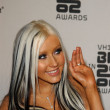 Christina Aguilera's Two-Tone Black and White Hair