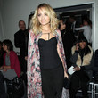 Nicole Richie's Floral Draped Cape