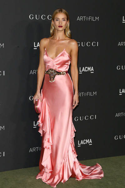 Rosie Huntington-Whiteley in Silk Salmon