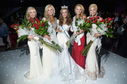 Miss Alabama, Meg McGuffin, Miss Louisiana, April Nelson, Miss America 2016, Betty Cantrell, Miss Mississippi, Hannah Roberts, Miss Colorado, Kelley Johnson attend The 2016 Official Miss America After-Party at  on September 13, 2015 in Atlantic City, New Jersey.