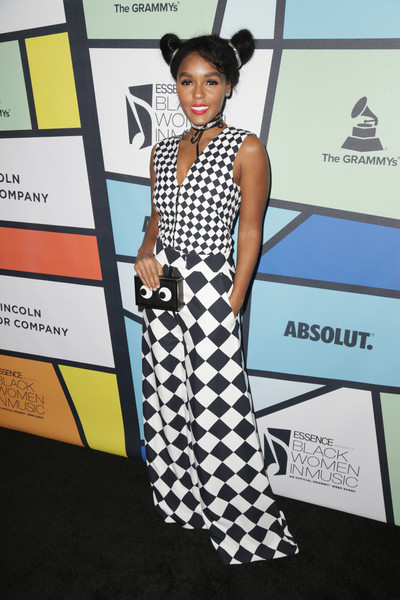In A Harlequin Print Jumpsuit At The 2017 Essence Black Women In Music Event