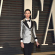 Liberty Ross in a Silver Metallic Suit Jacket