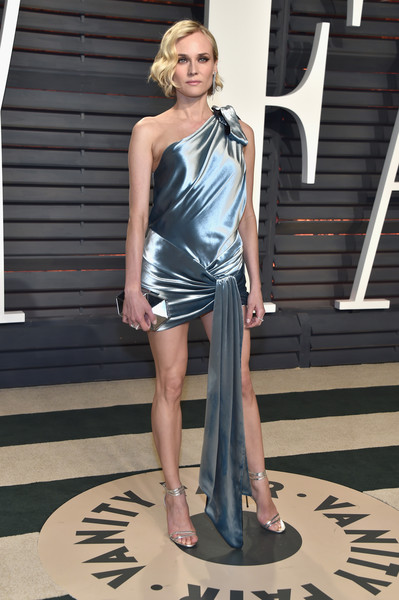 Diane Kruger in Sky Blue Silk