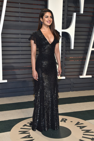 Priyanka Chopra in Black Sequins