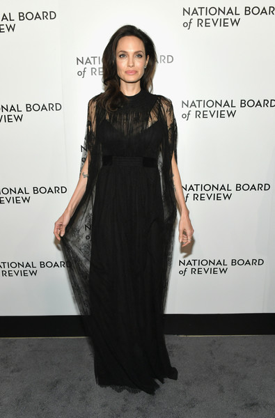Stepping Out In Black Lace Valentino At A Nyc Awards Gala