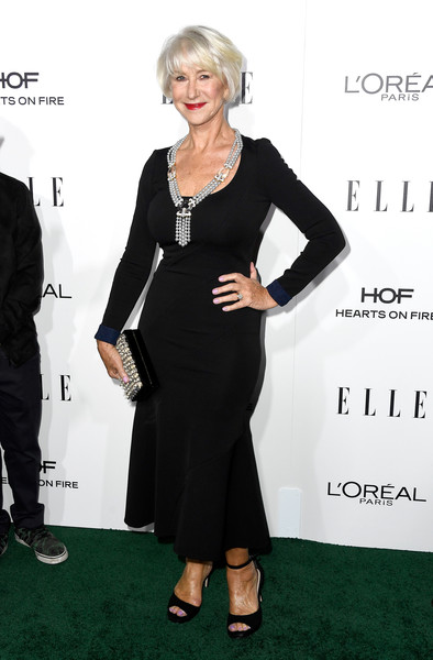 Helen Mirren in Black and a Statement Necklace