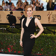 Amy Adams in a Fitted Black Gown