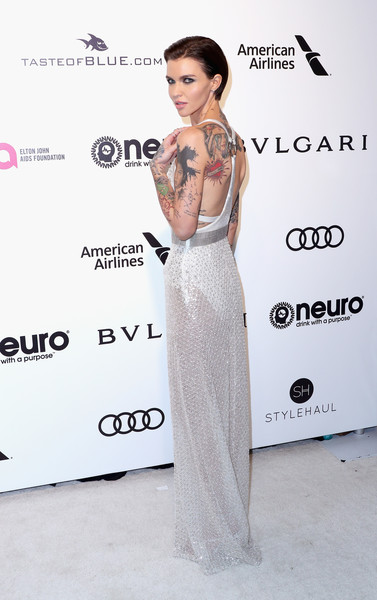 Ruby Rose in Shimmering White