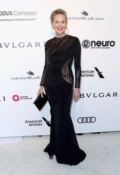 Sharon Stone in Sheer Black