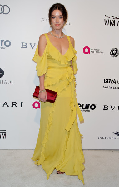 Melissa Bolona in Chartreuse Ruffles