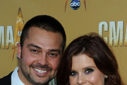 MLB player Nick Swisher and actress JoAnna Garcia attend the 44th Annual CMA Awards at the Bridgestone Arena on November 10, 2010 in Nashville, Tennessee.