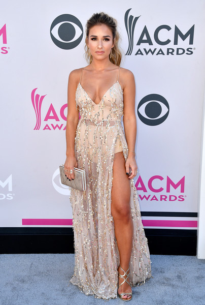 Jessie James Decker In Sheer Sequins, 2017