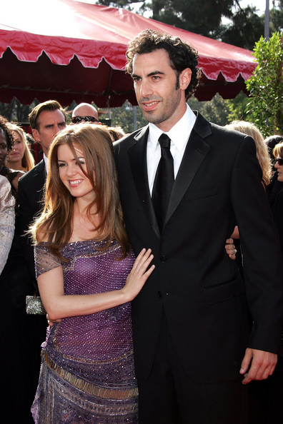 Then: Sacha Baron Cohen and Isla Fisher