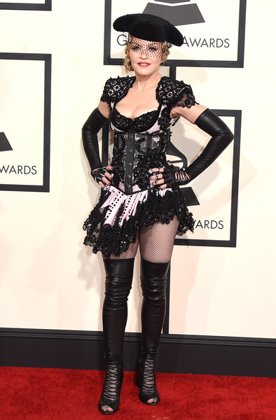 Dynamic In Embellished And Corseted Givenchy At The 2015 Grammys