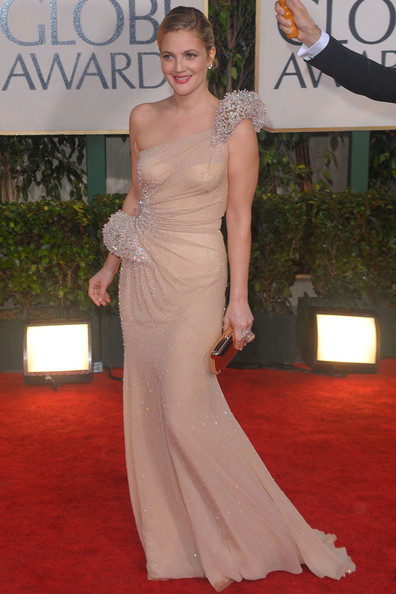 Drew Barrymore in Atelier Versace at the 2010 Golden Globes