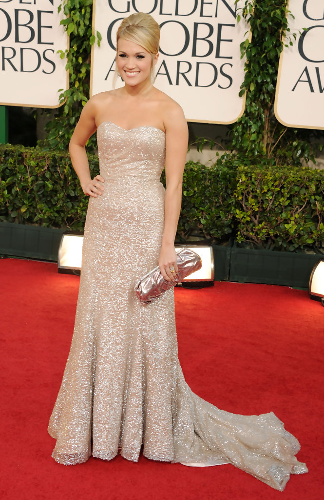 Carrie Underwood Is a Badgley Mischka Beauty at the Golden Globe ...