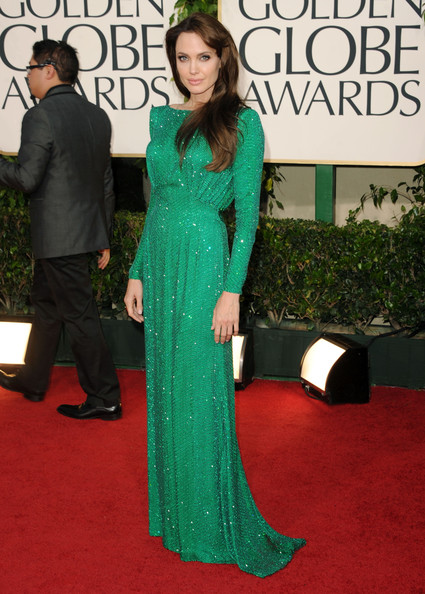 Angelina Jolie in Atelier Versace at the 2011 Golden Globes