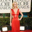 January Jones in Versace at the 2011 Golden Globe Awards