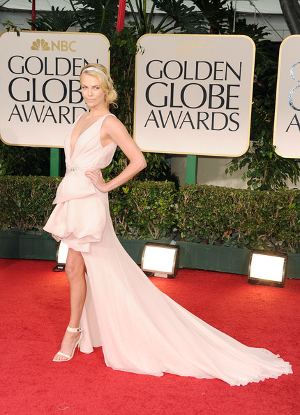 Charlize Theron in Christian Dior at the 2012 Golden Globe Awards