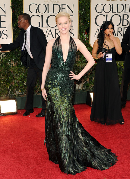 Evan Rachel Wood in Gucci at the 2012 Golden Globe Awards
