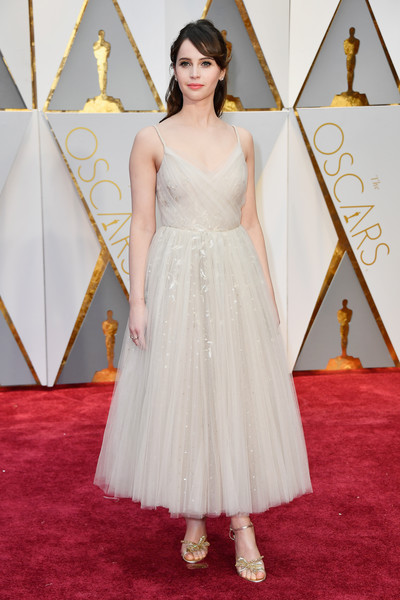 Felicity Jones in Frothy Nude Tulle