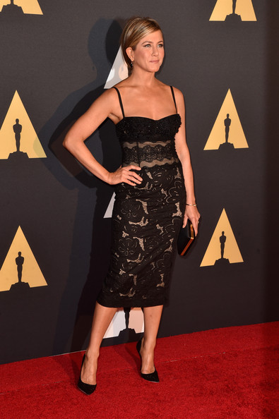 In A Lace Zuhair Murad LBD At The 2014 Governors' Awards