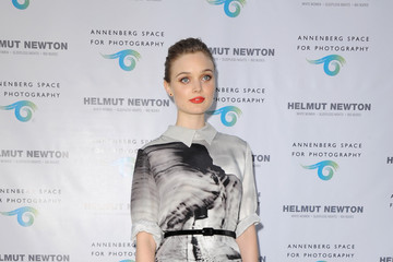 Bella Heathcote Dazzles In A Graphic Print Dress