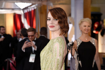 Emma Stone's Oscars Dress (2015 Red Carpet Photos)
