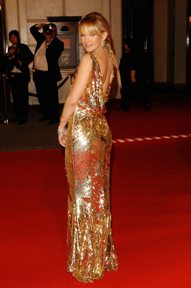 Kate In Backless Gold At the BAFTAs, 2008