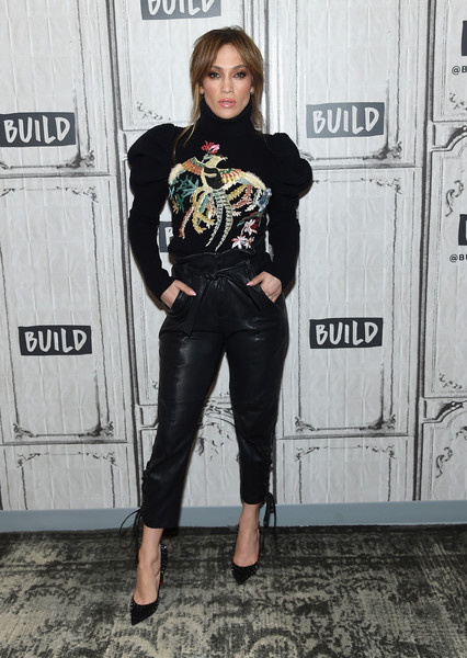 Jennifer Lopez in Marissa Webb and Zuhair Murad at Build Studio