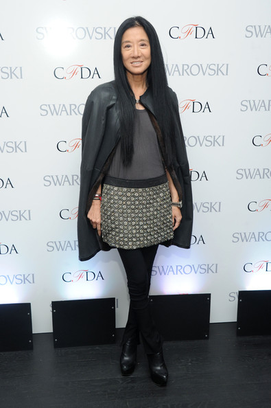 Vera Wang's Leather Cape