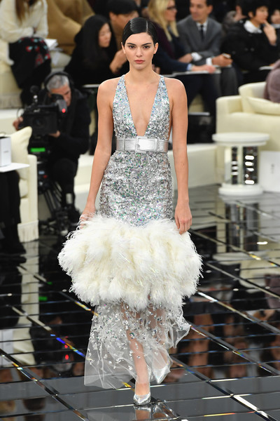 Looking Ethereal In Beaded And Feathered Chanel