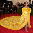 Rihanna's Fur-Lined Gown