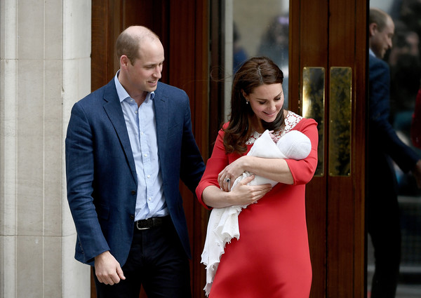 Prince William and Catherine Duchess Of Cambridge With Their Newborn Son