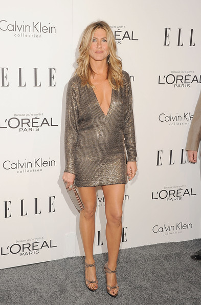 Wearing A Sultry Mini Dress At The 2011 ELLE's Women In Hollywood Tribute