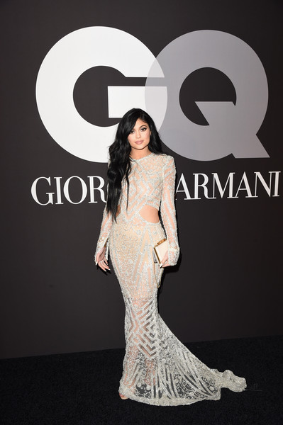 Looking Glam In A Sheer, Embellished Cutout Gown By Steven Khalil At A 2015 Grammys After-Party
