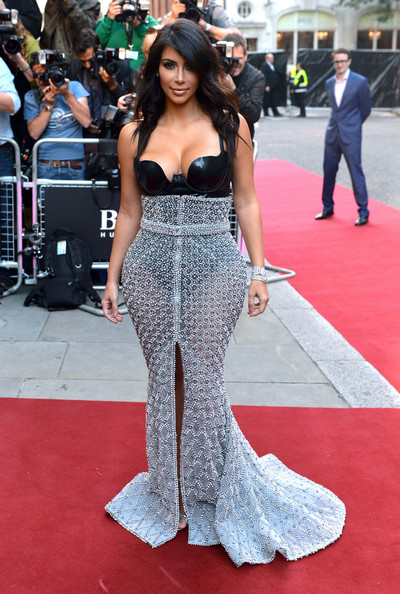 Kim Kardashian in Atsuko Kudo and Ralph & Russo at the 2014 GQ Men of the Year Awards