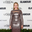 Iskra Lawrence in Metallic Long Sleeves