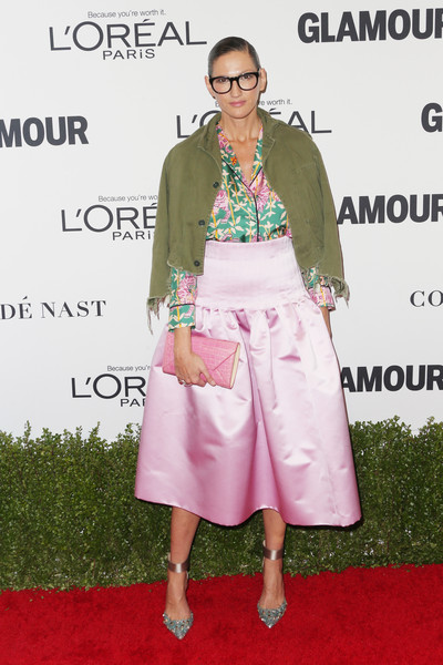 Jenna Lyons in Pink Satin