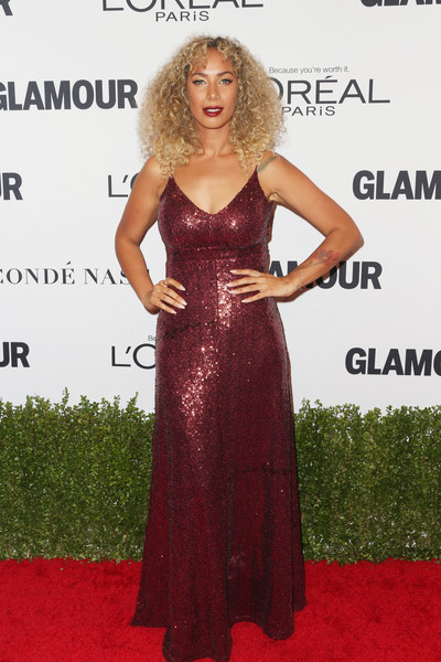 Leona Lewis in Burgundy Sequins