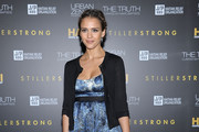 Actress Jessica Alba arrives at the HELP HAITI benefiting The Ben Stiller Foundation and The J/P Haitian Relief Organization at the Urban Zen Center At Stephan Weiss Studio on February 11, 2011 in New York City.