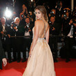 Ana de Armas' Backless Bronze and Silver Design