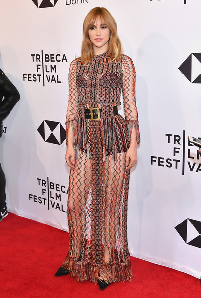 Suki Waterhouse In Christian Dior At The Tribeca Film Festival