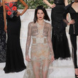 Wearing A Beaded Lace Gown On The La Perla Runway